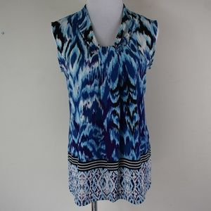 Dana Buchman Size Small Sleeveless Blouse